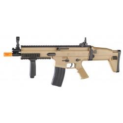 Réplique airsoft FN Scar-L tan, ressort | Cybergun