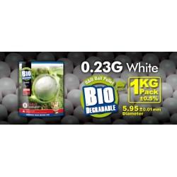 Billes airsoft biodégradables 0.23 gramme en sachet de 1 Kg de la marque G&G