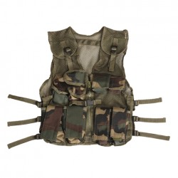 Gilet tactique enfant camouflage woodland | 101 Inc