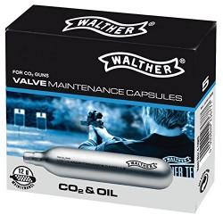 Capsule CO2 de 12 grammes siliconé Walther, par 5 | Umarex