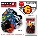 Empennage assortiment divers, par 6 | Bull's