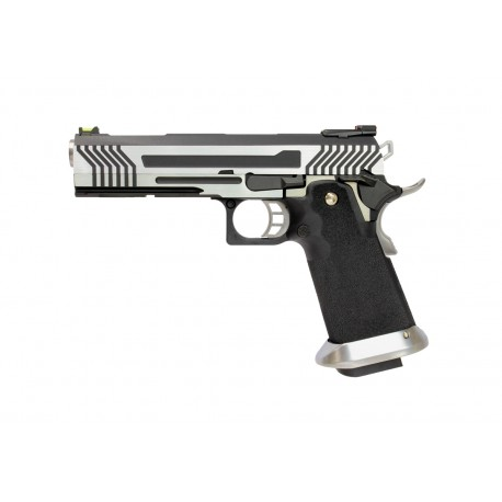 Réplique airsoft HX1101 full silver gaz blow back | AW custom