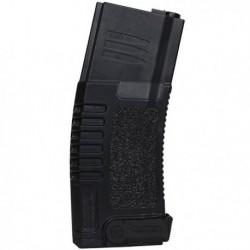Chargeur noir 140 billes pour réplique airsoft de type M4 / M15 / M16 électrique | Amoeba