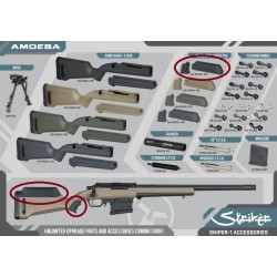 Custom noir pour réplique snipe airsoft Striker | Amoeba