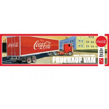 Maquette de remorque Coca-cola de la marque AMT.