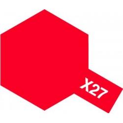 Peinture X27 rouge translucide de la marque Tamiya
