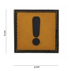 """Patch 3D PVC """"Caution"""", 101 Inc"""