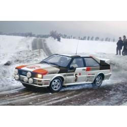 Maquette 1/24 de l'Audi quattro rally de la marque Italeri