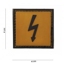 """Patch 3D PVC """"Dangerous voltage"""", 101 Inc"""