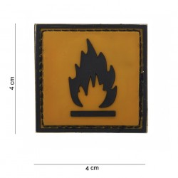"Patch 3D PVC ""Inflammable"", 101 Inc"