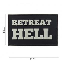 """Patch 3D PVC """"Retreat hell"""" noir, 101 Inc"""
