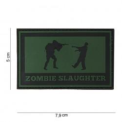 "Patch 3D PVC ""Zombie slaughter"" OD, 101 Inc"