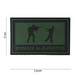 "Patch 3D PVC ""Zombie slaughter"" OD, 101 Inc"