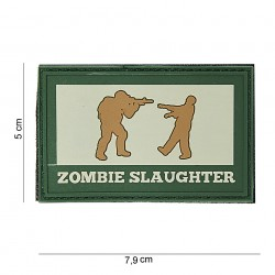 "Patch 3D PVC ""Zombie slaughter"" OD et gris, 101 Inc"