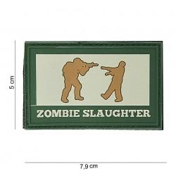 """Patch 3D PVC """"Zombie slaughter"""" OD et gris, 101 Inc"""
