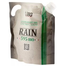 Billes airsoft biodégradables Rain 0.25 gramme en sachet de 3500 billes de la marque BO Manufacture