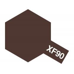 Peinture pour maquette plastique de couleur XF90 Brun rouge 2 10 ml de la marque Tamiya (81790)