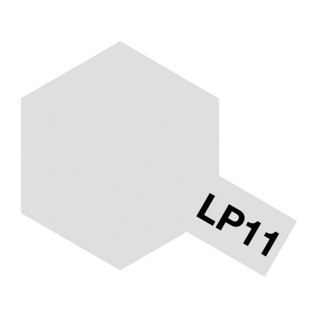 Peinture pour maquette plastique de couleur LP11 Argent 10 ml de la marque Tamiya (82111)