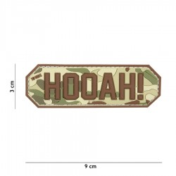 Patch 3D PVC Hooah de la marque 101 Inc
