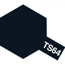 Peinture en spray pour maquette plastique. La couleur est TS64 Bleu mica foncé brillant 100 ml de la marque Tamiya