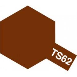 Peinture en spray pour maquette plastique. La couleur est TS62 Brun OTAN mat 100 ml de la marque Tamiya