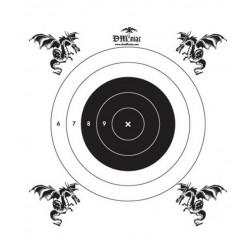 50 Cibles papier pour cible filet de la marque DMoniac (911103)