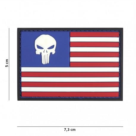 Patch 3D PVC Punisher USA de la marque 101 Inc (444130-5337)