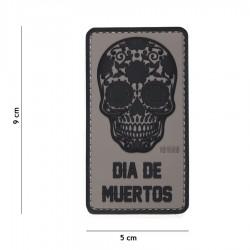 Patch 3D PVC Dia De Muertos avec velcro de la marque 101 Inc (444130-5173)