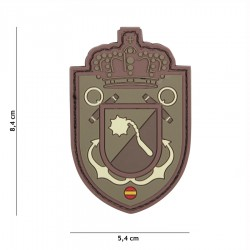 Patch 3D PVC Spanish crown shield avec velcro de la marque 101 Inc (444130-5522)