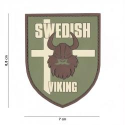 Patch 3D PVC Swedish viking avec velcro de la marque 101 Inc (444130-7008)