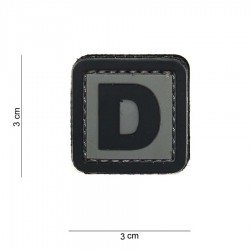 Patch 3D PVC D avec velcro de la marque 101 Inc (444100-3908)