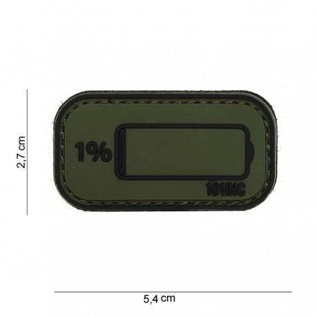Patch 3D PVC Low power avec velcro de la marque 101 Inc (444100-3929)