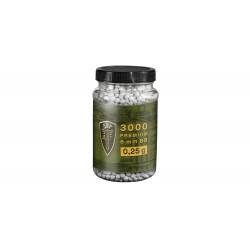 Bille airsoft Elite force 0.25 gramme en pot de 3000 billes de la marque Umarex (4.1840)