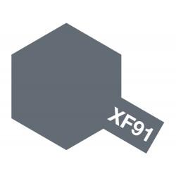 Peinture pour maquette plastique. La couleur est XF91 Gris marine Japonnaise yokosuka 10 ml de la marque Tamiya (81791)