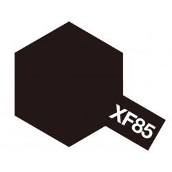 Peinture pour maquette plastique. La couleur est XF85 Noir caoutchouc mat 10 ml de la marque Tamiya (81785)