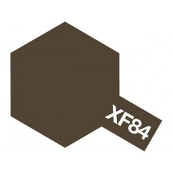 Peinture pour maquette plastique. La couleur est XF84 Fer foncé mat 10 ml de la marque Tamiya (81784)