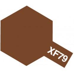 Peinture pour maquette plastique. La couleur est XF79 Linoleum pont mat 10 ml de la marque Tamiya (81779)