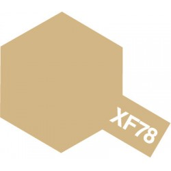 Peinture pour maquette plastique. La couleur est XF78 Beige pont mat 10 ml de la marque Tamiya (81778)