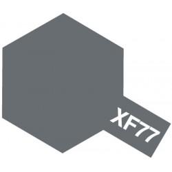 Peinture pour maquette plastique. La couleur est XF77 Gris Japonais sasebo mat 10 ml de la marque Tamiya (81777)