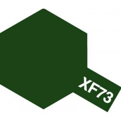 Peinture pour maquette plastique. La couleur est XF73 Vert foncé JGSDF mat 10 ml de la marque Tamiya (81773)