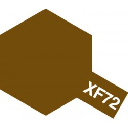 Peinture pour maquette plastique. La couleur est XF72 Brun JGSDF mat 10 ml de la marque Tamiya (81772)
