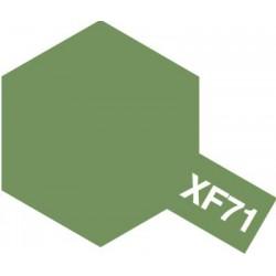 Peinture pour maquette plastique. La couleur est XF71 Vert cockpit Japonais mat 10 ml de la marque Tamiya (81771)