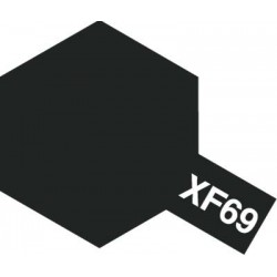 Peinture pour maquette plastique. La couleur est XF69 Noir OTAN mat 10 ml de la marque Tamiya (81769)