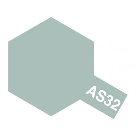 Peinture en spray pour maquette plastique. La couleur est AS32 Gris mer moyen 2 100 ml de la marque Tamiya (86532)