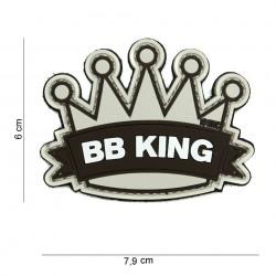 """Patch 3D PVC """"BB King"""" beige avec velcro, 101 Inc"""