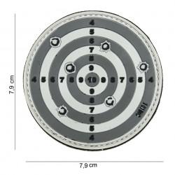 """Patch 3D PVC """"Target"""" gris avec velcro, 101 Inc"""
