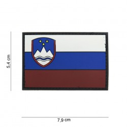"""Patch 3D PVC """"Slovénie"""" avec velcro, 101 Inc"""