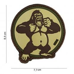 """Patch 3D PVC """"King Kong"""" sable avec velcro, 101 Inc"""