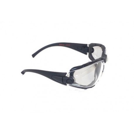 Lunettes de protection promouss verres incolores et montures noires, Dmoniac
