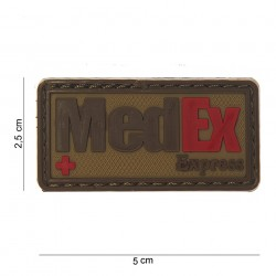 "Patch 3D PVC ""MedEx Express"" brun avec velcro, 101 Inc"